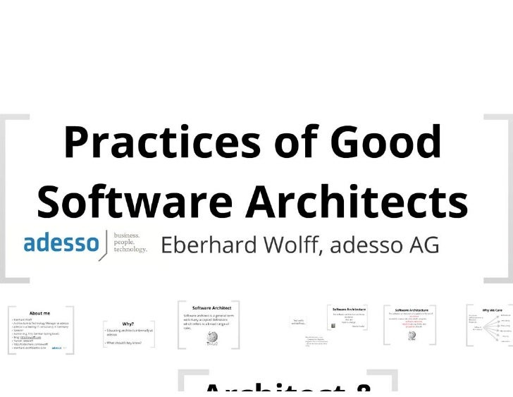 Practices of Good Software Architects