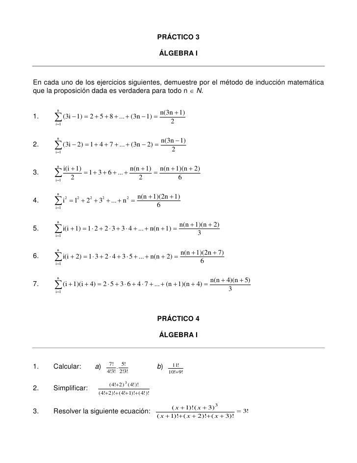 Practico 3 y 4 algebra i