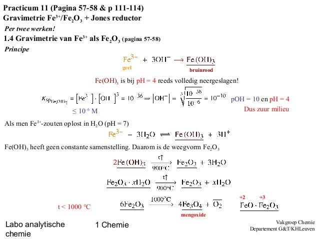Labovoorbereiding - gravimetrie & Jones reductor