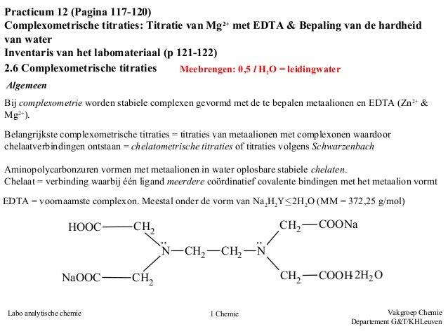 Labovoorbereiding - Complexometrie