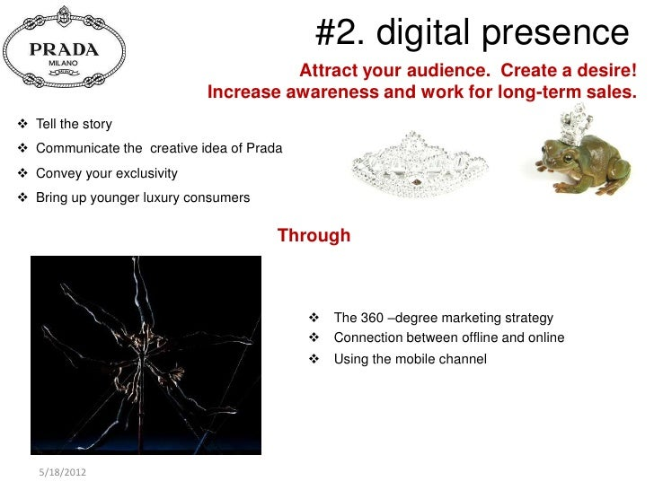 prada marketing plan An overview about luxottica group this section gathers information on brands, production lines, retail and wholesale networks and financial data.