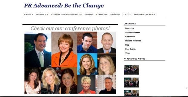 PR Advanced: Be the Change Website