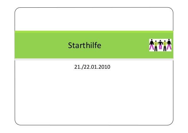 121./22.01.2010Starthilfe