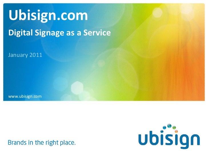 Ubisign.com Presentation