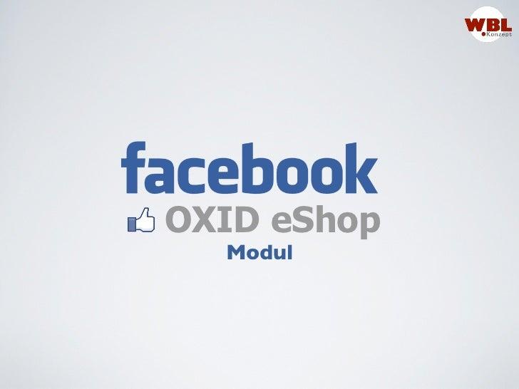 OXID eShop  Modul