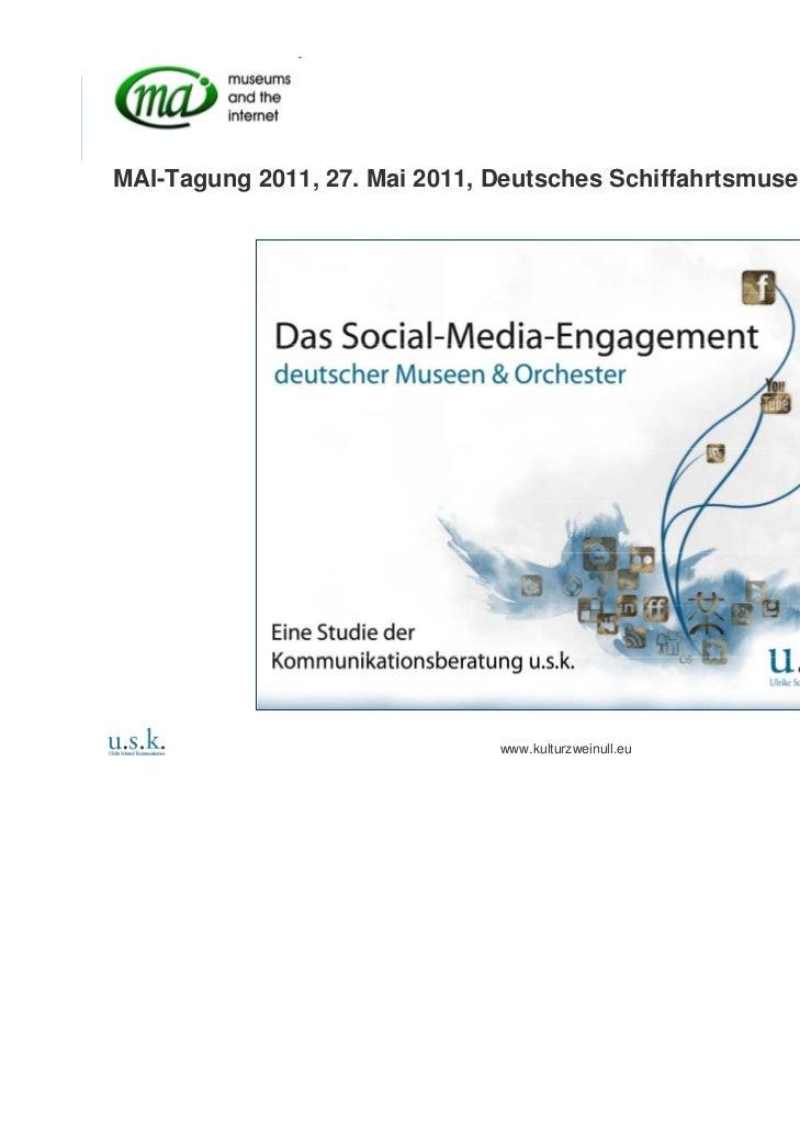 Social Web - Da geht noch was. Praesentation für MAI-Tagung 2011