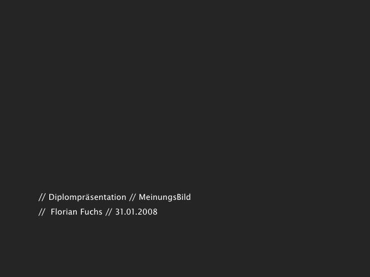 // Diplompräsentation // MeinungsBild // Florian Fuchs // 31.01.2008