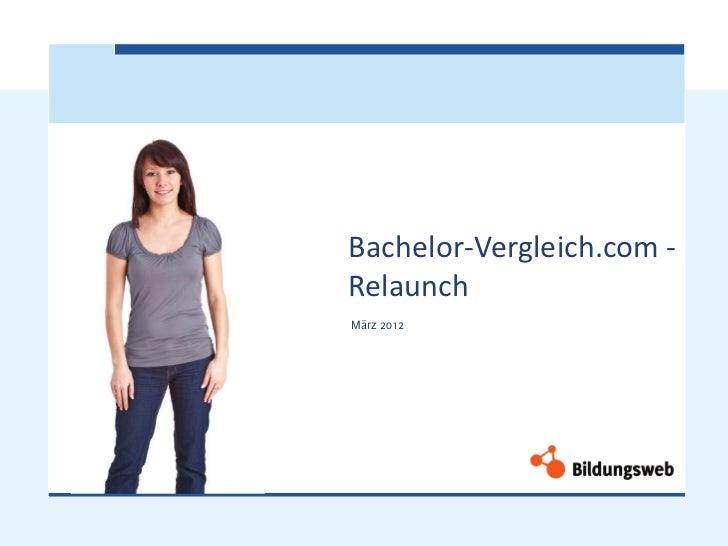 Bachelor-Vergleich.com -RelaunchMärz 2012