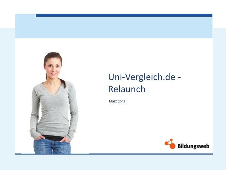 Uni-Vergleich.de -RelaunchMärz 2012