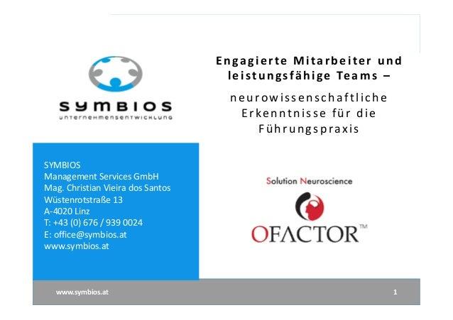 SYMBIOS Management Services GmbH Mag. Christian Vieira dos Santos Wüstenrotstraße 13 A-4020 Linz T: +43 (0) 676 / 939 0024...
