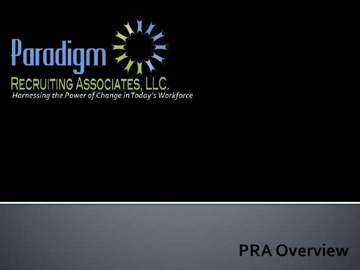 Paradigm Recruiting Associates Company Overview