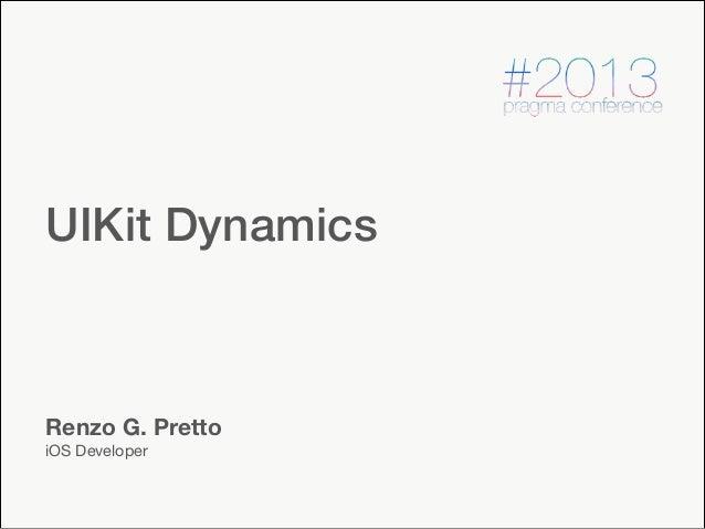 #pragma conf 2013  - UIKit dynamics