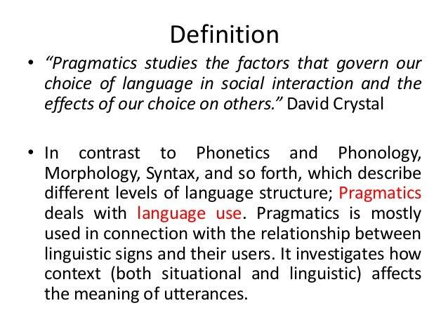 Pragmatic linguistics»