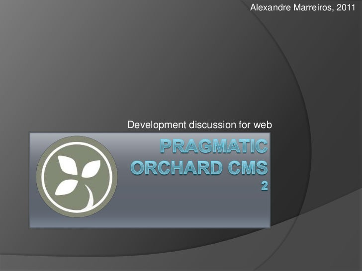 Alexandre Marreiros, 2011Development discussion for web