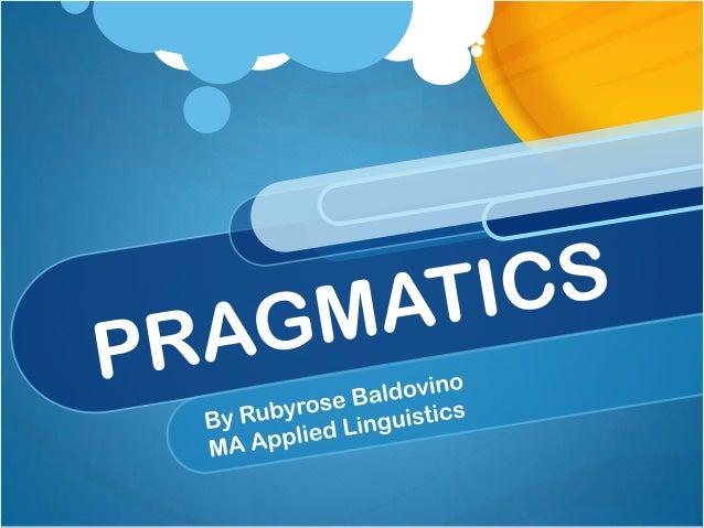Pragmatics (Speech Acts)