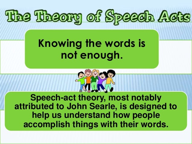 Speech acts an essay in the philosophy of language