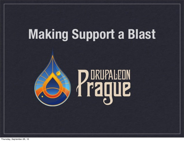 Making Support A Blast