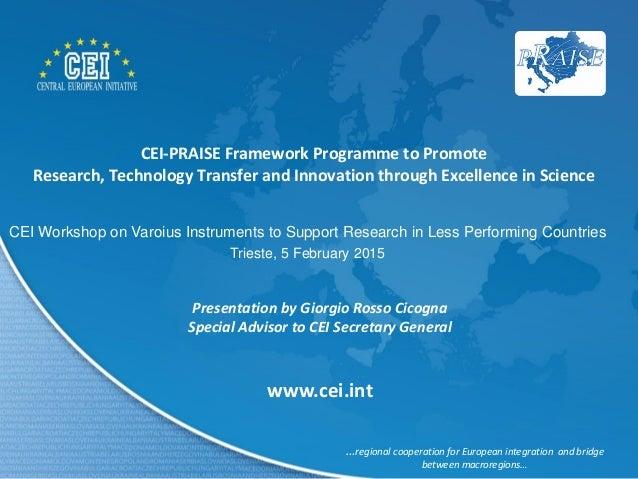 Framework Research Programme Cei-praise Framework Programme