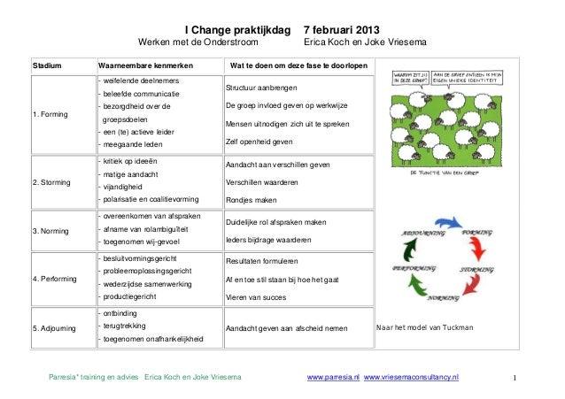 I Change praktijkdag              7 februari 2013                                 Werken met de Onderstroom               ...