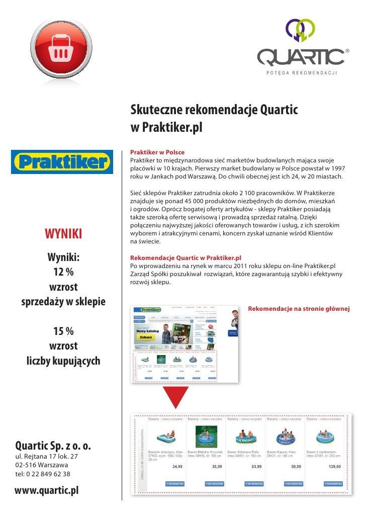 Skuteczne rekomendacje Quartic                         w Praktiker.pl                         Praktiker w Polsce          ...
