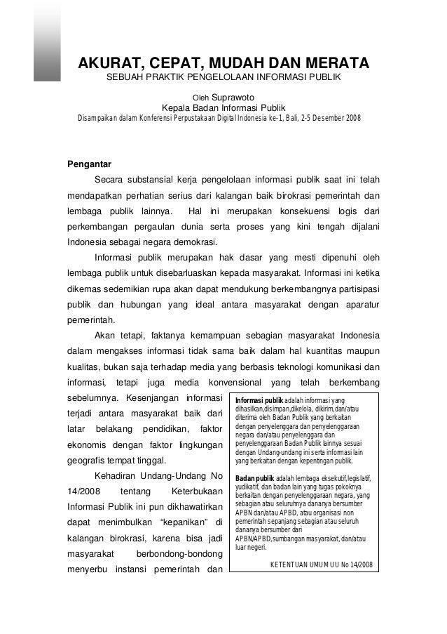 Praktik pengelolaan informasi publik
