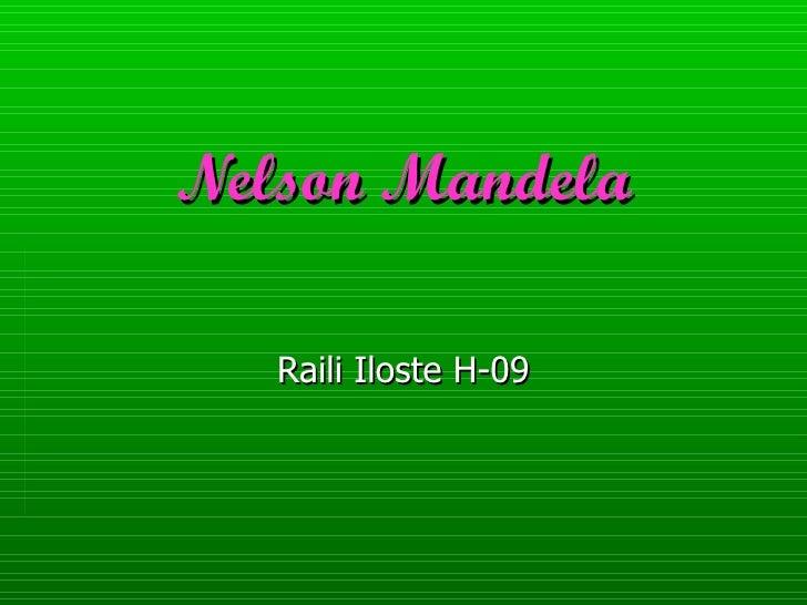 Nelson Mandela Raili Iloste H-09