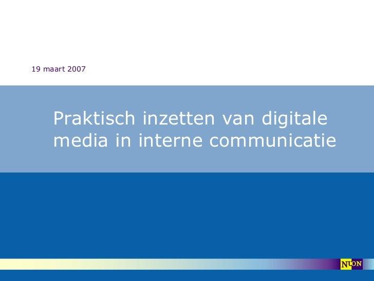 Praktische inzet van digitale interne communicatie_ 2007 kort