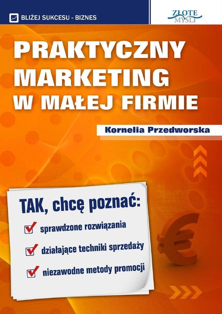 Praktyczny marketing w małej firmie - pobierz darmowy ebook pdf