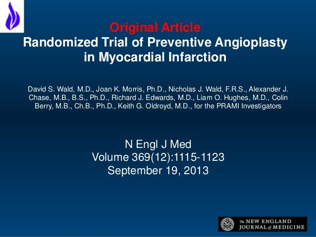 randomized trial of preventive angioplasty in myocardial