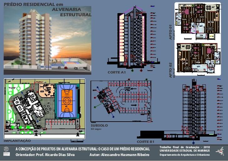 TFG Pranchas - Projetos em Alvenaria Estrutural