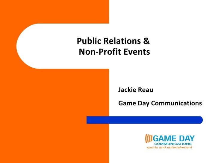 Public Relations &  Non-Profit Events Jackie Reau Game Day Communications