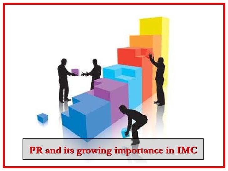 Pr an integral component of imc