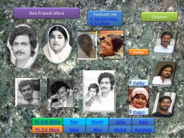 Ravi Prakash Misra             Facebook Link                             Pt. Baij Nath Misra                Children      ...