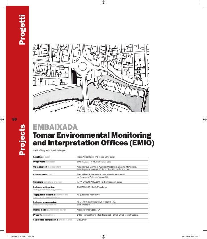 Progetti 86        Projects                       EMBAIXADA                       Tomar Environmental Monitoring          ...