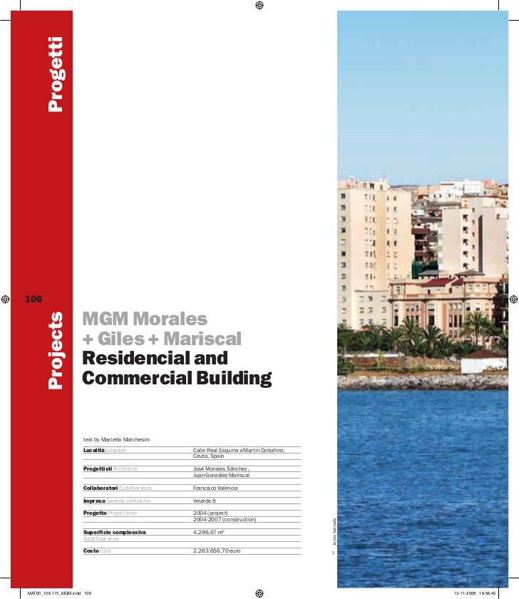 Residencial and Commercial Building by MGM Architects, Ceuta, Spain.