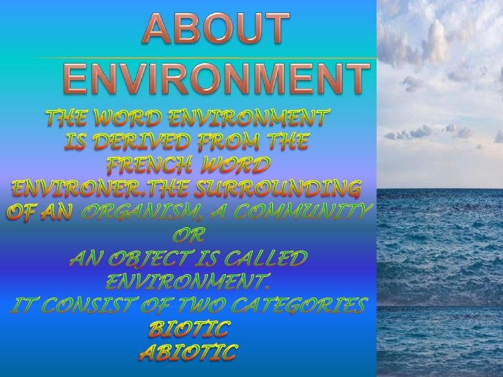 Essay on save environment save life
