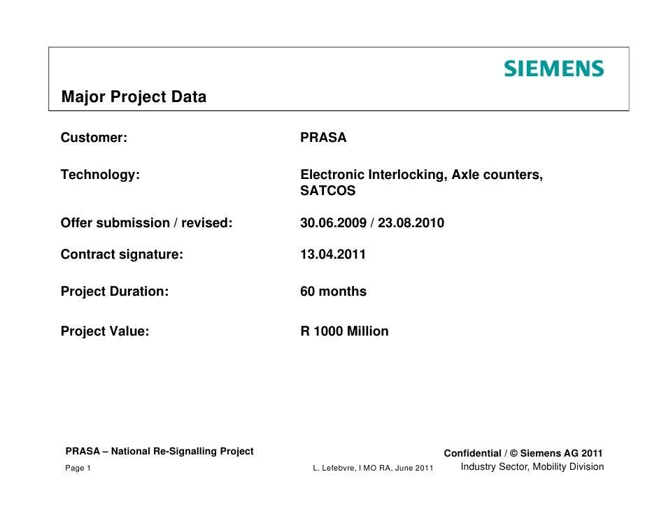 Siemens - UNIDO SPX Prasa project