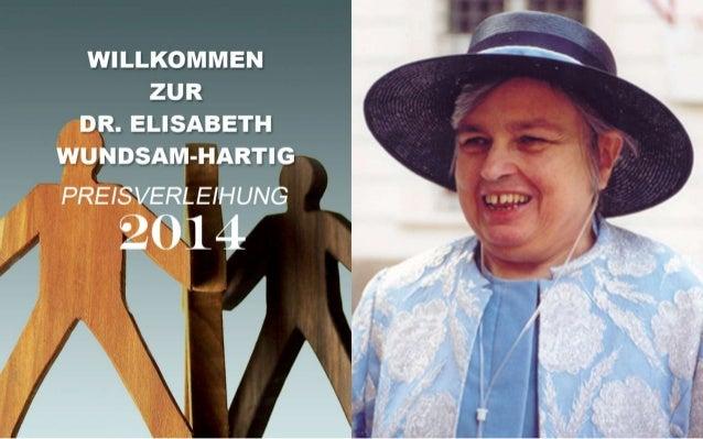 Dr. Elisabeth Wundsam-Hartig Preis 2014