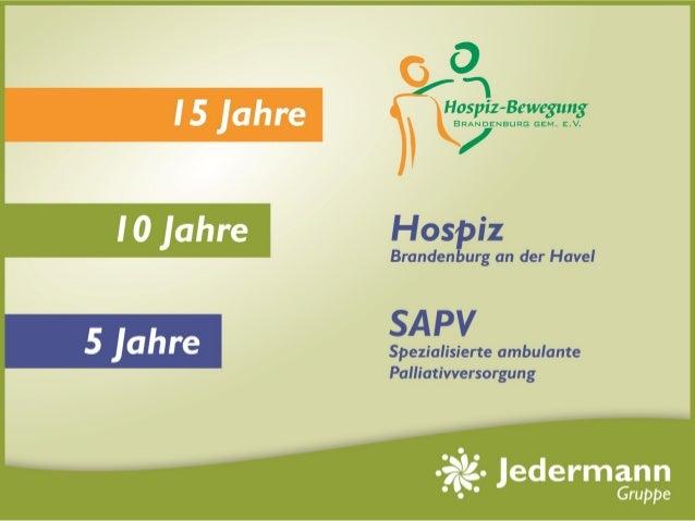 Meilensteine des Hospizes Brandenburg