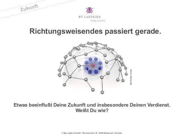 © My Ladybird GmbH - Pfannenstilstr. 23 - 8820 Wädenswil - SchweizRichtungsweisendes passiert gerade.Etwas beeinflußt Dein...