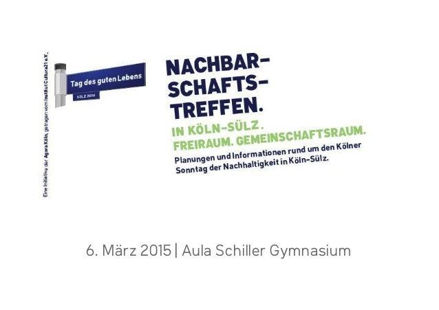 6. März 2015 |Aula Schiller Gymnasium