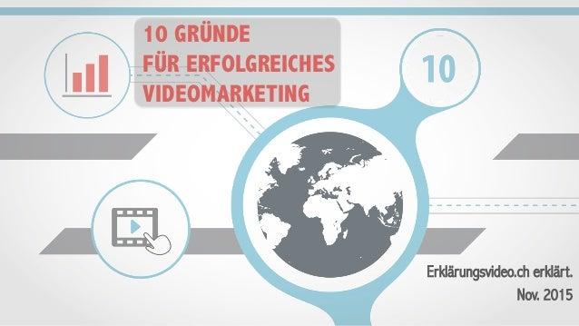 10 GRÜNDE FÜR ERFOLGREICHES VIDEOMARKETING Erklärungsvideo.ch erklärt. Nov. 2015