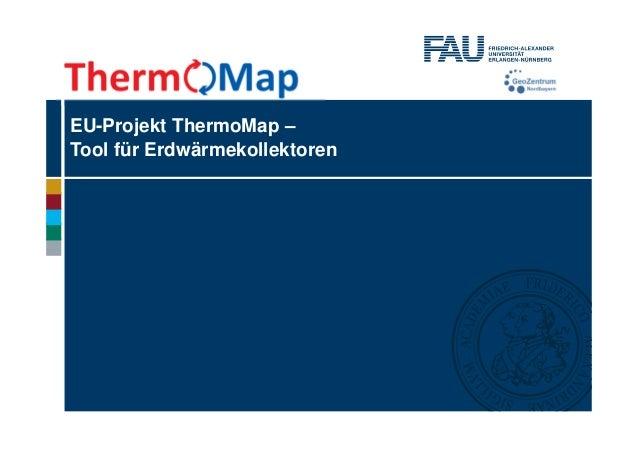 EU-Projekt ThermoMap – Tool für Erdwärmekollektoren