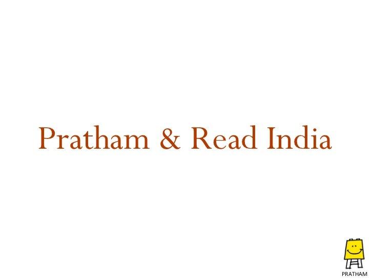 Pratham & Read India PRATHAM