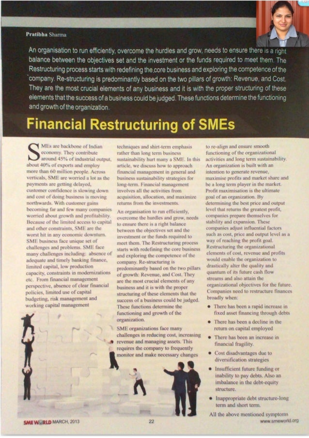 Financial Restructuring of SMEs