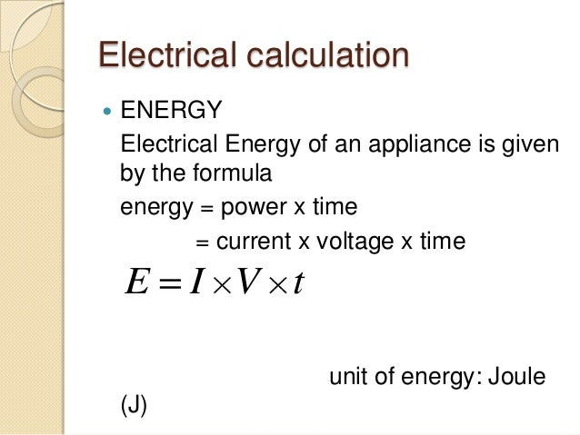 Electrical Formula Calculator : Pratical electricity