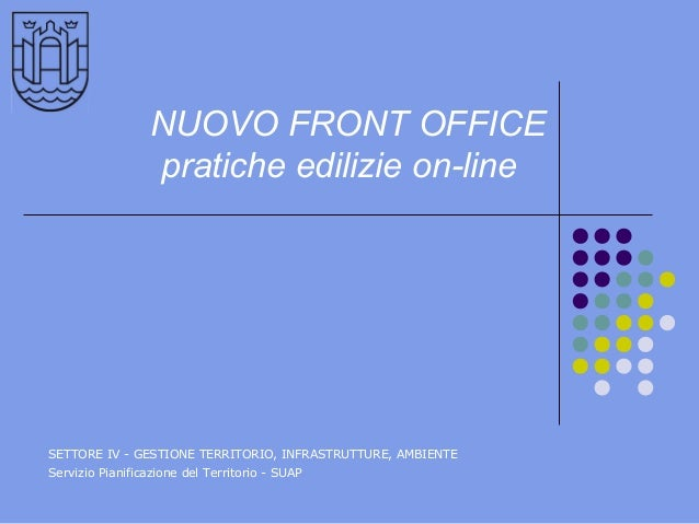 Pratiche edilizie-online. Presentazione del nuovo front office del comune di Pordenone