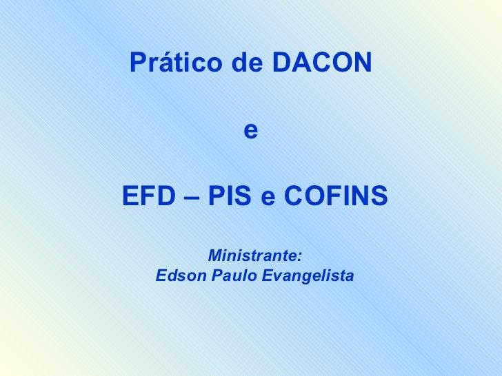 Prático de DACON e EFD PIS E COFINS