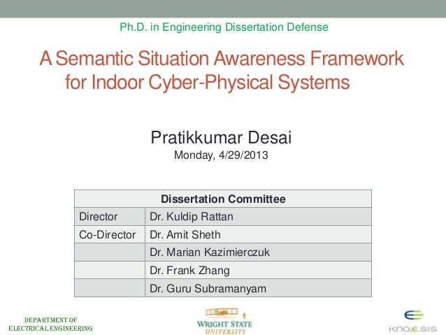 Department ofElectrical EngineeringA Semantic SituationAwareness Frameworkfor Indoor Cyber-Physical SystemsDissertation Co...