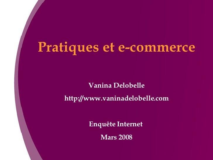 Pratiques et e-commerce